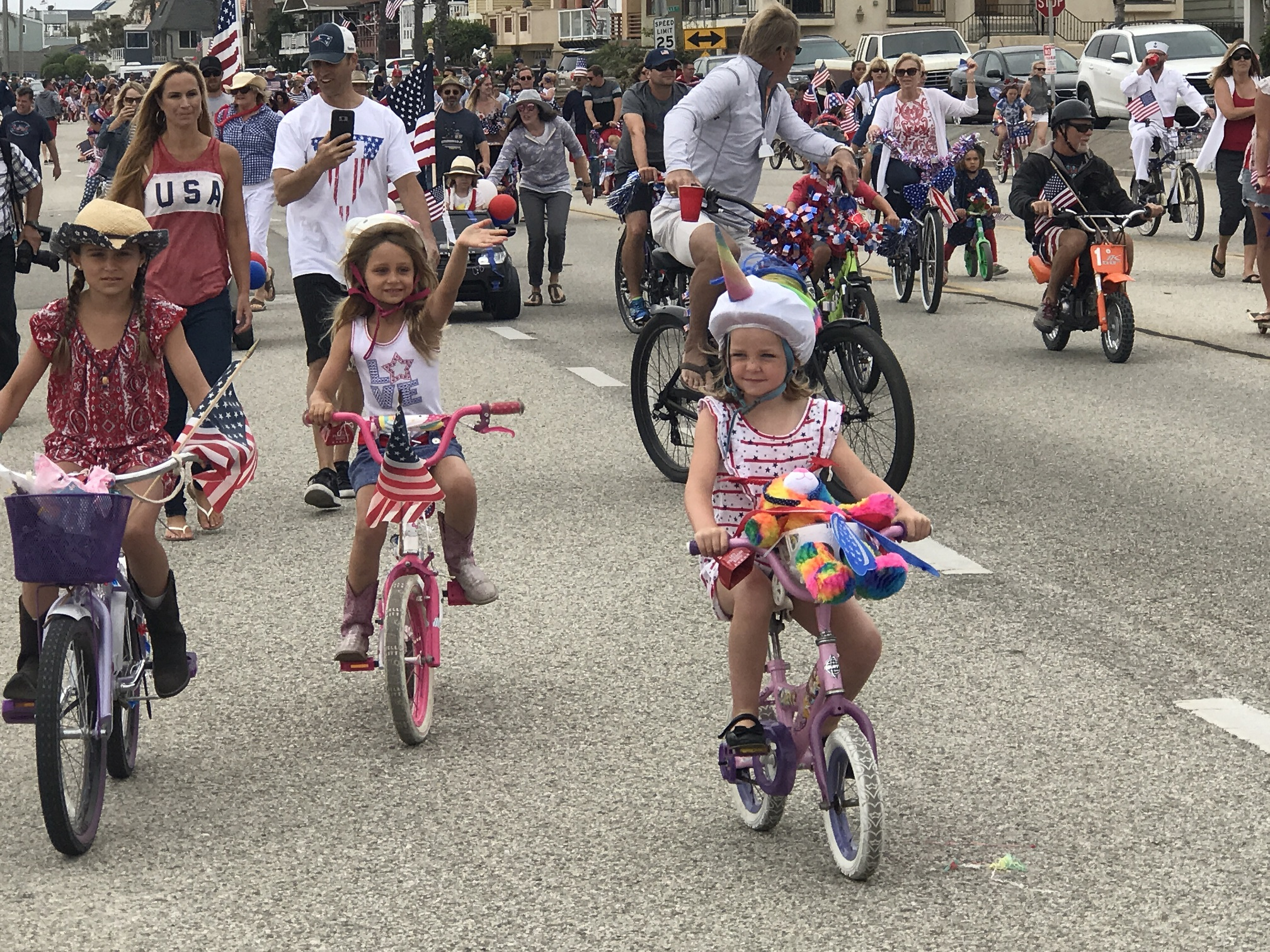 Patriotic participants of all ages at the 4th of July Children's Parade