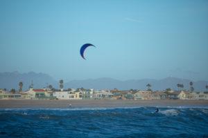 A kite surfer on Channel Islands beach